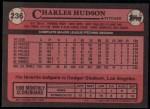 1989 Topps #236  Charles Hudson  Back Thumbnail