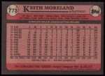 1989 Topps #773  Keith Moreland  Back Thumbnail