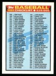 1989 Topps #619   Checklist 529-660 Front Thumbnail