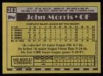 1990 Topps #383  John Morris  Back Thumbnail