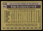 1990 Topps #307  Bip Roberts  Back Thumbnail