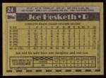 1990 Topps #24  Joe Hesketh  Back Thumbnail