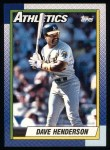 1990 Topps #68  Dave Henderson  Front Thumbnail