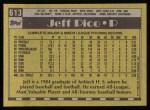 1990 Topps #613  Jeff Pico  Back Thumbnail