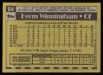 1990 Topps #94  Herm Winningham  Back Thumbnail