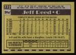 1990 Topps #772  Jeff Reed  Back Thumbnail
