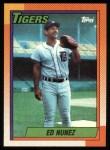 1990 Topps #586  Edwin Nunez  Front Thumbnail