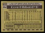 1990 Topps #769  Greg Hibbard  Back Thumbnail