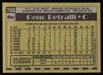 1990 Topps #706  Geno Petralli  Back Thumbnail
