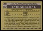 1990 Topps #444   -  Kyle Abbott #1 Draft Pick Back Thumbnail