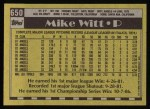 1990 Topps #650  Mike Witt  Back Thumbnail