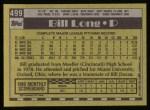1990 Topps #499  Bill Long  Back Thumbnail
