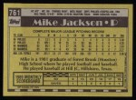 1990 Topps #761  Mike Jackson  Back Thumbnail
