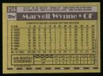 1990 Topps #256  Marvell Wynne  Back Thumbnail