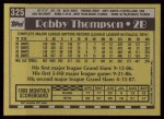 1990 Topps #325  Robby Thompson  Back Thumbnail