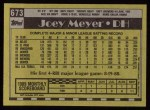 1990 Topps #673  Joey Meyer  Back Thumbnail