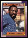 1990 Topps #455  Jeffrey Leonard  Front Thumbnail