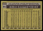 1990 Topps #455  Jeffrey Leonard  Back Thumbnail