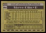 1990 Topps #433  Steve Olin  Back Thumbnail