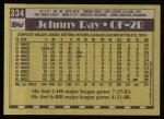 1990 Topps #334  Johnny Ray  Back Thumbnail