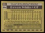 1990 Topps #65  Devon White  Back Thumbnail