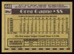 1990 Topps #448  Greg Gagne  Back Thumbnail