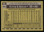 1990 Topps #66  Greg Litton  Back Thumbnail