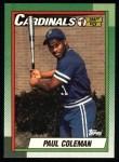 1990 Topps #654  Paul Coleman  Front Thumbnail