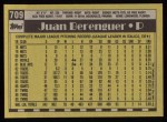 1990 Topps #709  Juan Berenguer  Back Thumbnail