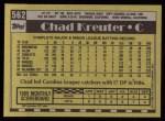 1990 Topps #562  Chad Kreuter  Back Thumbnail