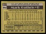 1990 Topps #317  Mark Guthrie  Back Thumbnail