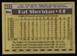 1990 Topps #422  Pat Sheridan  Back Thumbnail