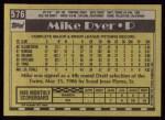1990 Topps #576  Mike Dyer  Back Thumbnail