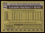 1990 Topps #686  Carmelo Martinez  Back Thumbnail