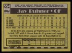 1990 Topps #554  Jay Buhner  Back Thumbnail