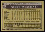 1990 Topps #741  Steve Wilson  Back Thumbnail