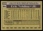 1990 Topps #309  Eric Yelding  Back Thumbnail