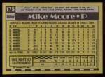 1990 Topps #175  Mike Moore  Back Thumbnail