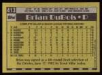 1990 Topps #413  Brian DuBois  Back Thumbnail