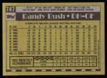 1990 Topps #747  Randy Bush  Back Thumbnail