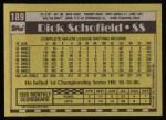 1990 Topps #189  Dick Schofield  Back Thumbnail