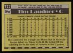 1990 Topps #777  Tim Laudner  Back Thumbnail