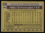 1990 Topps #127  Mike Devereaux  Back Thumbnail