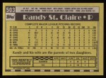 1990 Topps #503  Randy St.Claire  Back Thumbnail