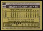 1990 Topps #415  Shawon Dunston  Back Thumbnail