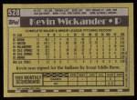 1990 Topps #528  Kevin Wickander  Back Thumbnail