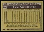1990 Topps #495  Lee Smith  Back Thumbnail