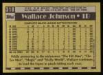 1990 Topps #318  Wallace Johnson  Back Thumbnail