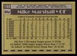 1990 Topps #198  Mike Marshall  Back Thumbnail