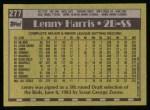 1990 Topps #277  Lenny Harris  Back Thumbnail